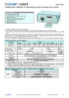 C101F data sheet