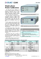 C250 data sheet