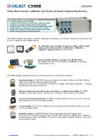 C300B-Three-Phase-Power-Calibrator-Data-Sheet-EN