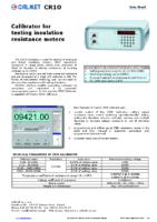 CR10 data sheet