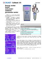 Caltest10 data sheet
