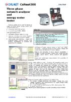 Caltest300 data sheet
