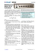 MPX8 data sheet